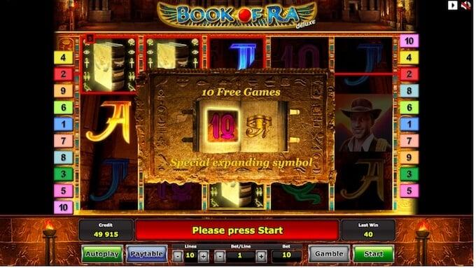 giros gratis con book of ra slot
