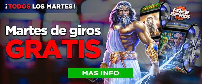Martes de Giros Gratis con Caliente.mx