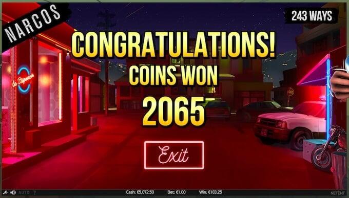 monedas que puedes ganar en super win slot narcos
