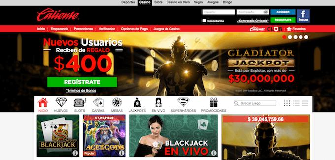 Experiencia en desplazamiento web de casino caliente.