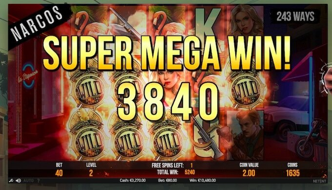 super mega win con los narcos