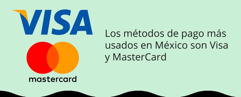 Los métodos de pago más usados en México
